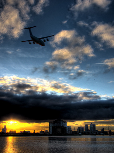 city and plane